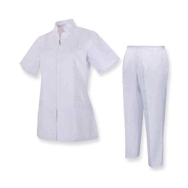 MISEMIYA Camisa Y Pantalón Mujer Túnica de enfermería 2