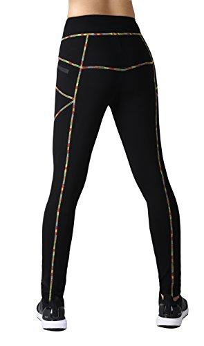 Neonysweets Womens Legging Sports Workout Tights Running Yoga Pants Black M