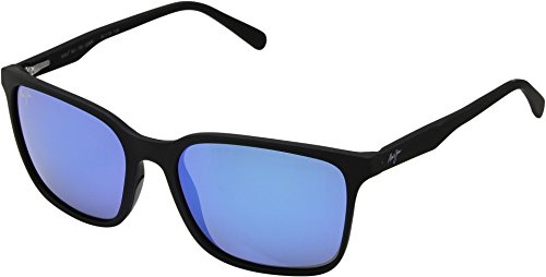 Maui Jim Unisex Wild Coast Matte Black/Blue Hawaii One - Maui Women Jim Aviator