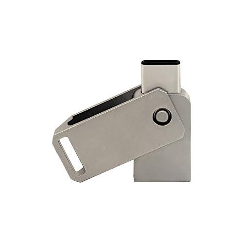 CHUYI High Speed Rotate Type C 32GB USB 3.0 Dual Flash Drive (USB A 3.0 / USB C) Metal USB-C Memory Stick Waterproof Thumb Drive Storage U Disk Pen Drive Jump Drive for Cellphone and Computers