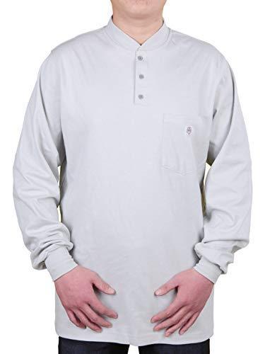 c75be582 Amazon.com: 7 Oz Cotton Long Sleeve Henley FR Shirt - FR T-shirt: Home  Improvement
