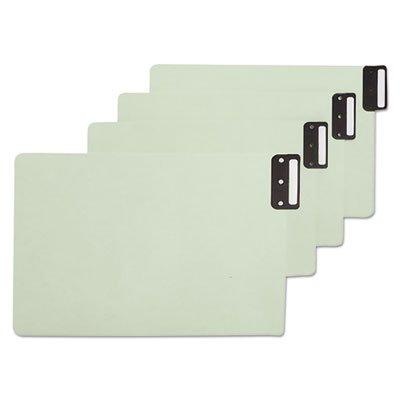 End Tab Guides, Blank, Vertical Metal Tabs, Pressboard, Legal, 50/Box