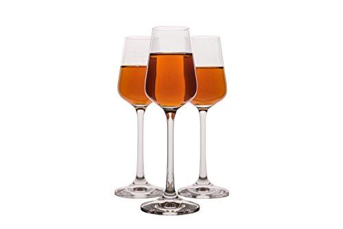 - Small Liquor Glasses Set (6 pack), Hard & Durable Crystal Clear Stemware - 2.1 Oz / 65ml