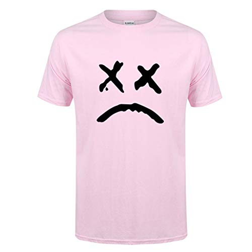 Allywit-Mens Spring Summer Casual Fashion Cute Printing O-Neck Short Sleeve Cotton T-Shirt Pink by Allywit-Mens (Image #4)