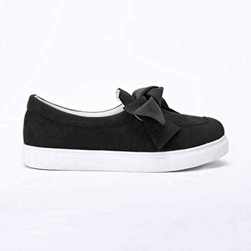 Chaussures Plat Mode De on Femmes Chaussures Casual Filles Femmes Sneakers Slip Chaussures Bowknot zWqff0nta8
