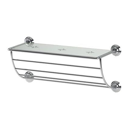 IKEA LILLHOLMEN - colgador de toallas / estante - 60 cm