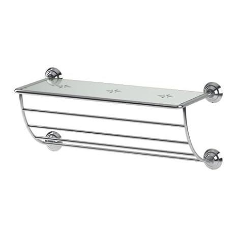 IKEA LILLHOLMEN - colgador de toallas / estante - 60 cm: Amazon.es: Hogar