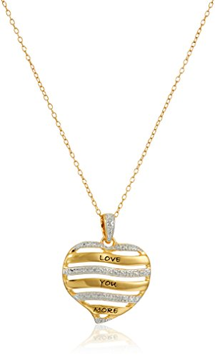 18k Yellow Gold Plated Sterling Silver Diamond Accent Two Tone
