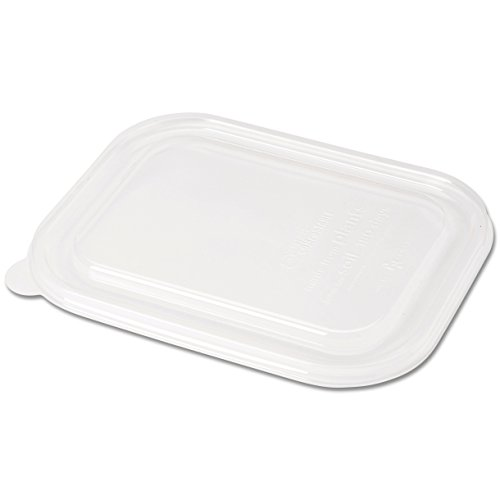 Ingeo Fiber - World Centric CTL-CS-3 100% Compostable Ingeo Fiber to Go Box Lids, for 8.8