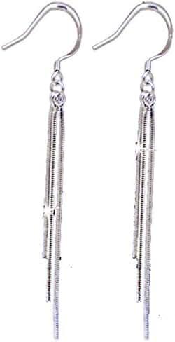 Vintage Long Earings 925 Sterling Silver Tassel Fashion Jewelry for Women 2015