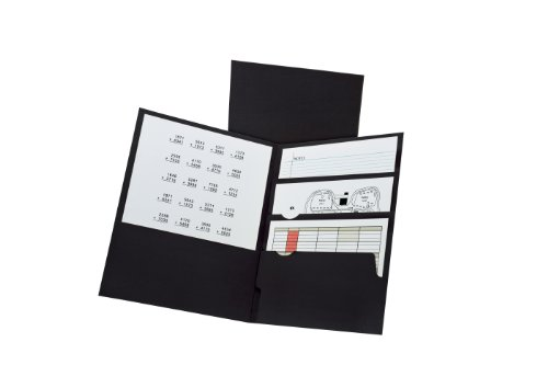Oxford Divide it Up, 4 Pocket Folder, Black, Letter Size, 25 per Box (57403EE)