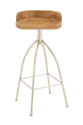 Deco 79 80908 Metal Wood Bar Stool, 16