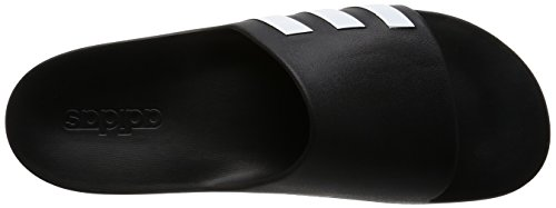 adidas Unisex Adults' Aqualette Cloudfoam Beach and Pool Shoes Multicolored (Core Black/Footwear White/Core Black) u2bhF