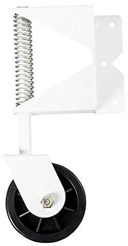 Nationwide Industries Swivel Gate Wheel For Vinyl Gate, Stainless Steel - White - Vinyl Trolley