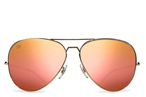 Shady Rays Aviator Elite Polarized Sunglasses Rose Gold