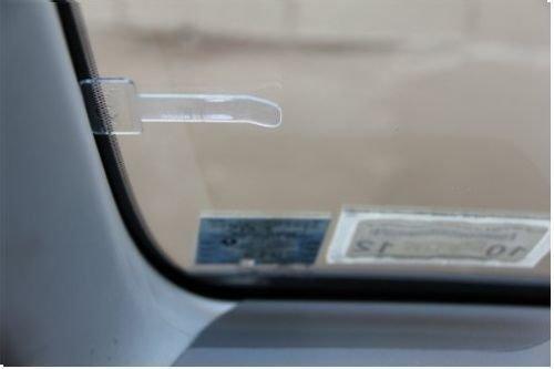 FGF-EU per esporre ricevute del parcheggio passi 2 clip adesive trasparenti per parabrezza dell/'auto