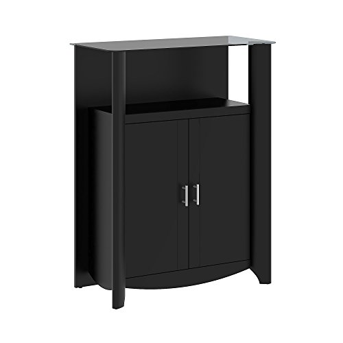 Aero Library Storage Cabinet with Doors Bush Furniture 2 Door Cabinet