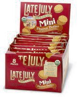 Late July Organic - Mini Organic Bite Size Sandwich Crackers Peanut Butter - 8 Pack(s), 1.125 oz