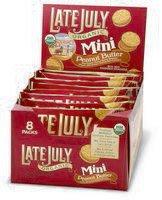 Late July Organic - Mini Organic Bite Size Sandwich Crackers Peanut Butter - 8 Pack(s), 1.125 oz (Best Organic Peanut Butter Brand)