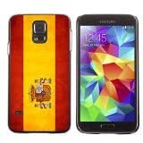 Shell-Star ( National Flag Series-Spain ) Snap On Hard Protective Case For Samsung Galaxy S5 V SM-G900 by lolosakes