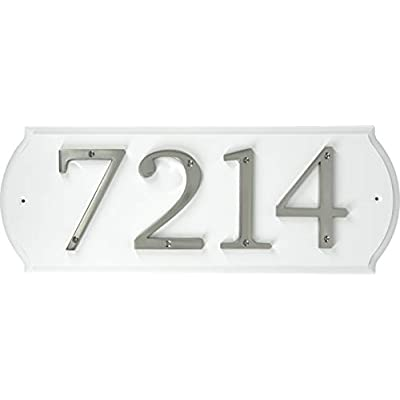 Hillman 848711 Paintable Address Plaque, White: Home Improvement