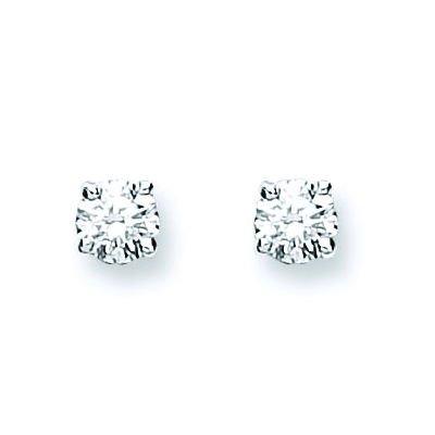 Jareeya-0.25CT Diamant Solitaire Boucles d'oreille à tige, Lot de en or blanc 18ct