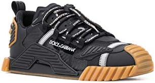Luxury Fashion   Dolce E Gabbana Heren CS1770AJ9698B956 Zwart Polyester Sneakers   Lente-zomer 20