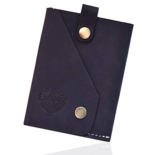 (Louis Pelle Leather Men Minimalist Wallet RFID Blocking Slim Wallet)