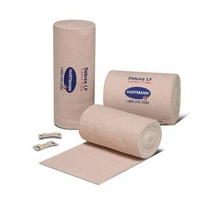 Hartmann Deluxe Reinforced Elastic Bandage, Latex-Free, 6'' X 11 yds, Pack of 6 Rolls