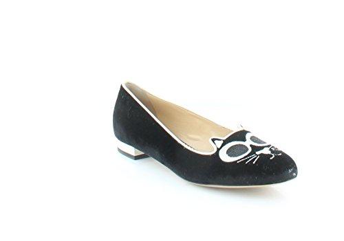 charlotte olympia Grunge Kitty Women's Flats & Oxfords Black Size 8.5 M