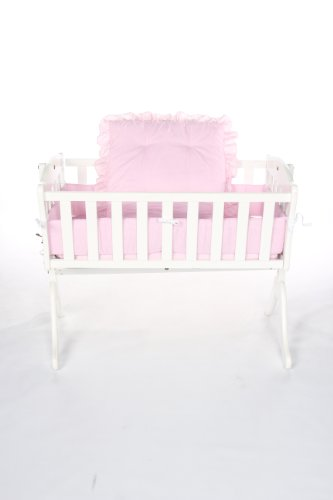 - Baby Doll Bedding Gingham Cradle Set, Pink