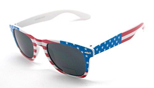 USA Espejo Sol Gafas Wayfarer de Bandera Estados Unidos Sunglasses 5ZZYqSnr