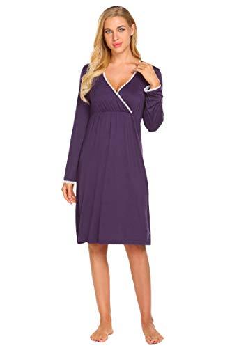 Aimage Camicia Donna Purple notte da wPwFSnq6Op