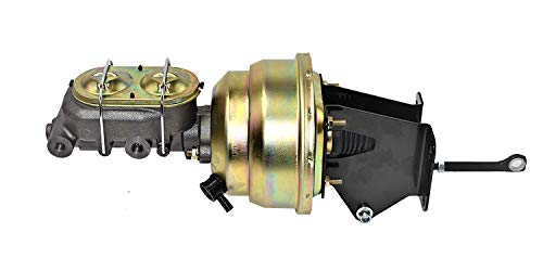 (A-Team Performance Dual Power Brake Booster Conversion Kit Compatible With 74-86 Jeep CJ7 CJ5 8
