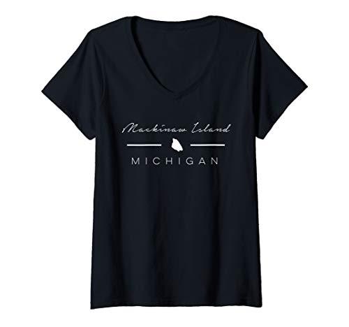 Womens Mackinac Island Souvenir V-Neck T-Shirt