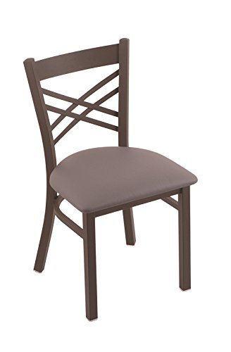 Holland Bar Stool 620 Catalina 18″ Chair with Bronze Frame Finish and Your Choice of Wood or Upholstered Seat, Allante Medium Grey For Sale