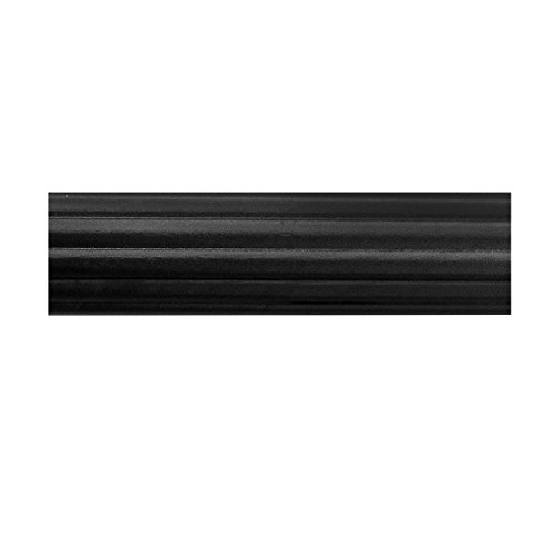 Black Wood Curtain Rod (BEME International 1-3/4-Inch Diameter Fluted Wood Drapery Rod, 72-Inch,)