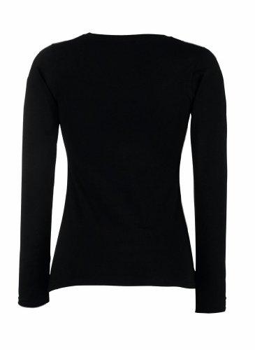 Fruit of the Loom Lady-Fit Valueweight langarm T-Shirt 61-404-0, Größe:XL;Farbe:Black XL,Black