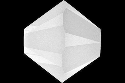 12 pcs Swarovski Crystal Bicone 5301 Beads, White Alabaster, 6mm
