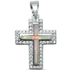 Amazon.com: Colgante de plata de ley 925 con cruz cristiana ...