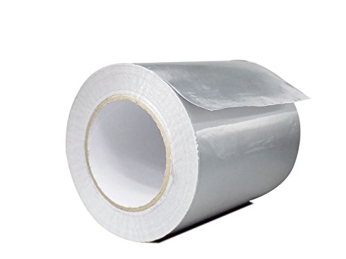WOD AF-20R Premium Grade General Purpose Heat Shield Resistant Aluminum Foil Tape - Good for HVAC, Air Ducts, Insulation (Available in Multiple Sizes): 4 in. wide x 50 yds. by WOD Tape