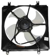 01 Honda Crv Radiator - TYC 600170 Honda CRV Replacement Radiator Cooling Fan Assembly