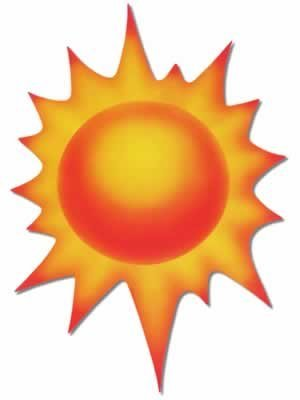 Sun Cutout Party Accessory (1 count) -