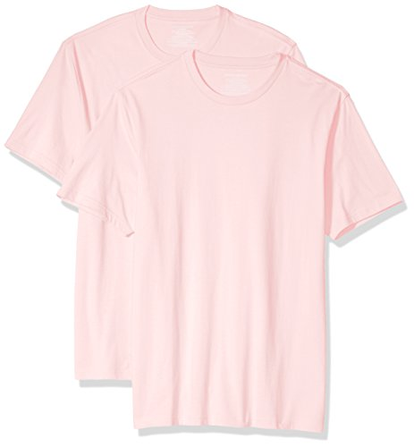 (Amazon Essentials Men's 2-Pack Slim-Fit Short-Sleeve Crewneck T-Shirt, Light Pink, XX-Large)