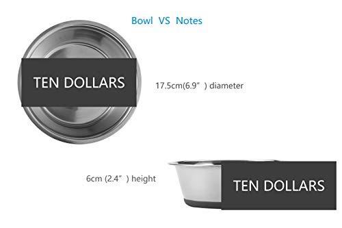 31xJ6dwlkSL - No Spill Non-Skid Stainless Steel Deep Dog Bowls