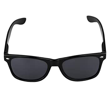 Gafas de sol Sunglasses 80s + Bolsa para Hombres Unisex Turismo Negro