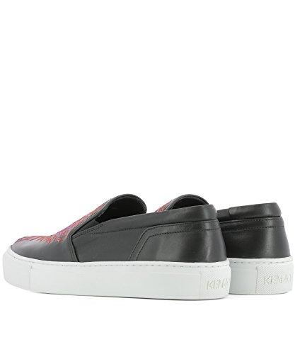 On Black Kenzo Women's Slip F762SN100L7199 Leather Sneakers xfn7OanqH