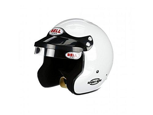 Face Helmet Bell White Sports (Bell Racing SPORT MAG WHITE LARGE (60) SA2015 V.15 BRUS HELMET)