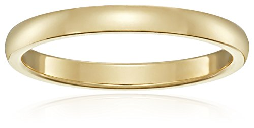 Classic Fit 18K Yellow Gold Band, 2mm, Size 6.5 by Amazon Collection