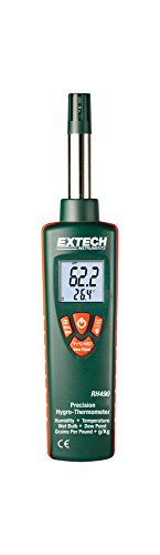 Extech RH490-NIST Precision Hygro-Thermometer with Grains Per Pound (GPP) Display and NIST by Extech